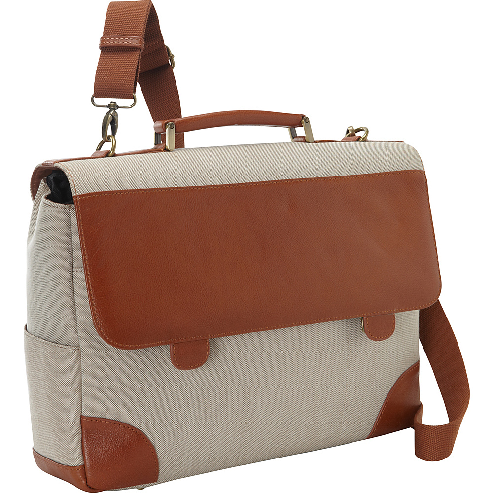 Bellino Russo Laptop Briefcase Tan - Bellino Non-Wheeled Business Cases