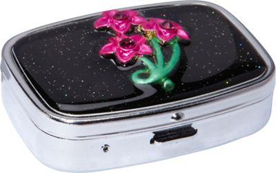 Budd Leather Secret Garden Rectangular Pill Box As Shown ...