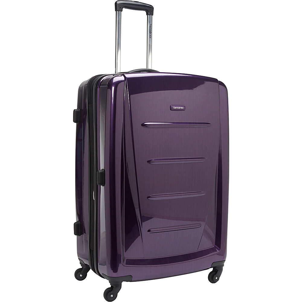 "Samsonite Winfield 2 Fashion Hardside Spinner Luggage - 28"" Purple - Samsonite Hardside Checked"