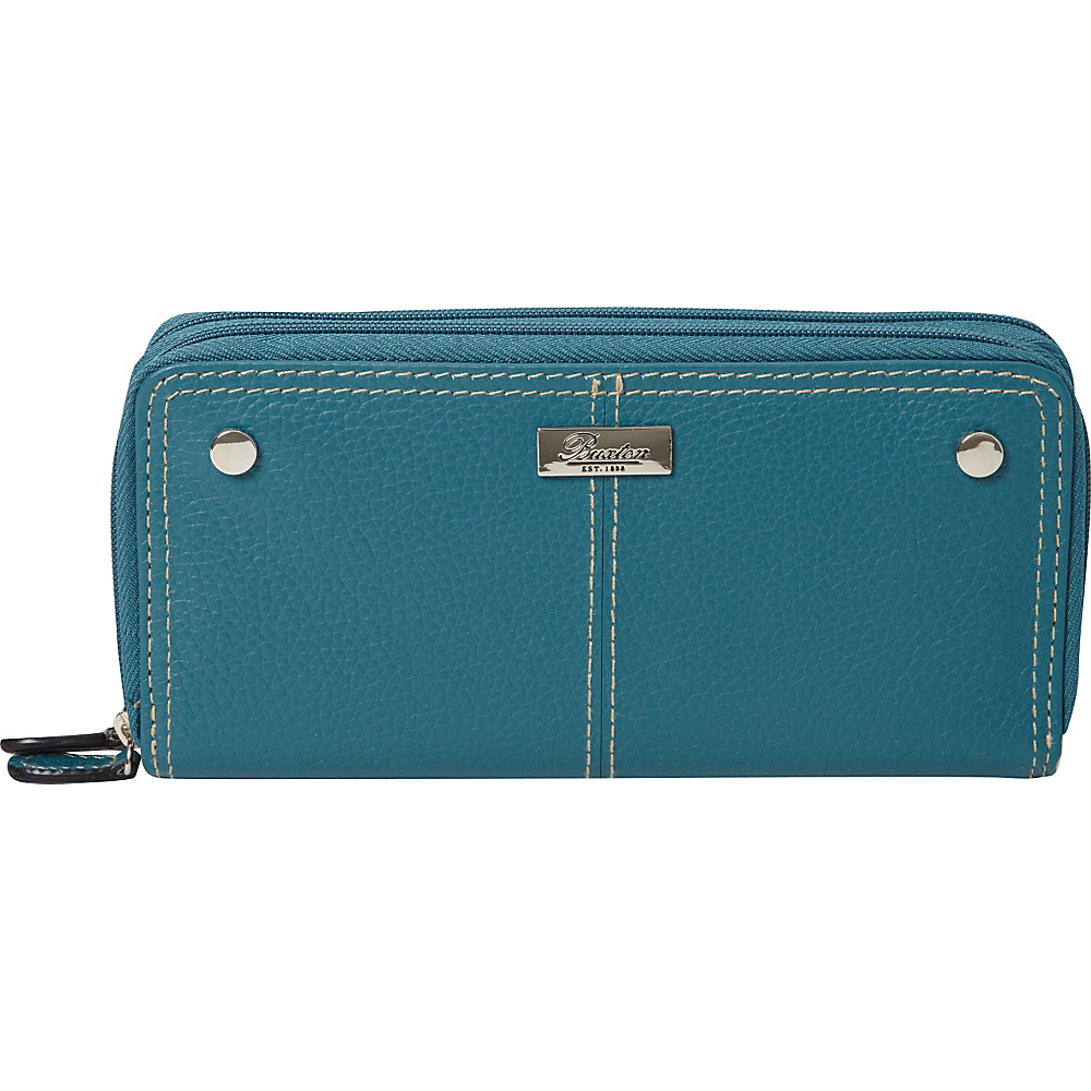Buxton Slim Double Zip Dragonfly - Buxton Womens Wallets - Women's SLG, Women's Wallets