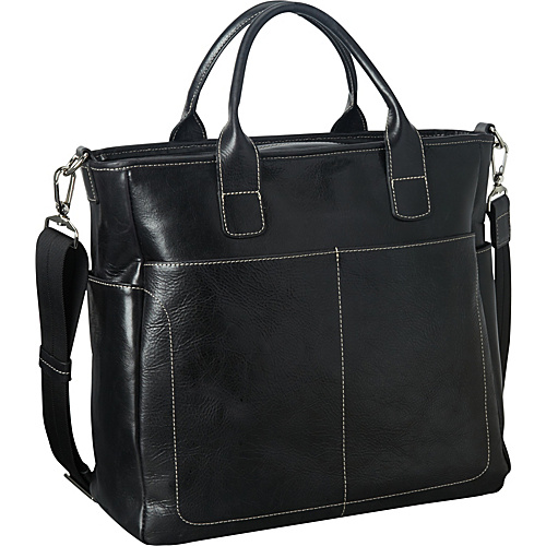 Jack Georges Montana Collection North/South Satchel Black - Jack Georges Leather Handbags