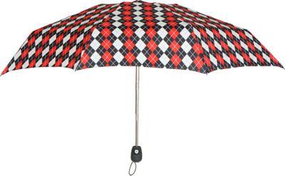 Leighton Umbrellas Francesca red/black argyle - Leighton Umbrellas Umbrellas and Rain Gear