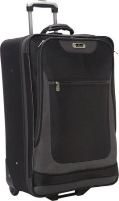 Skyway Epic Wheel Expandable Upright Luggage - 24 inch Black - Skyway Softside Checked