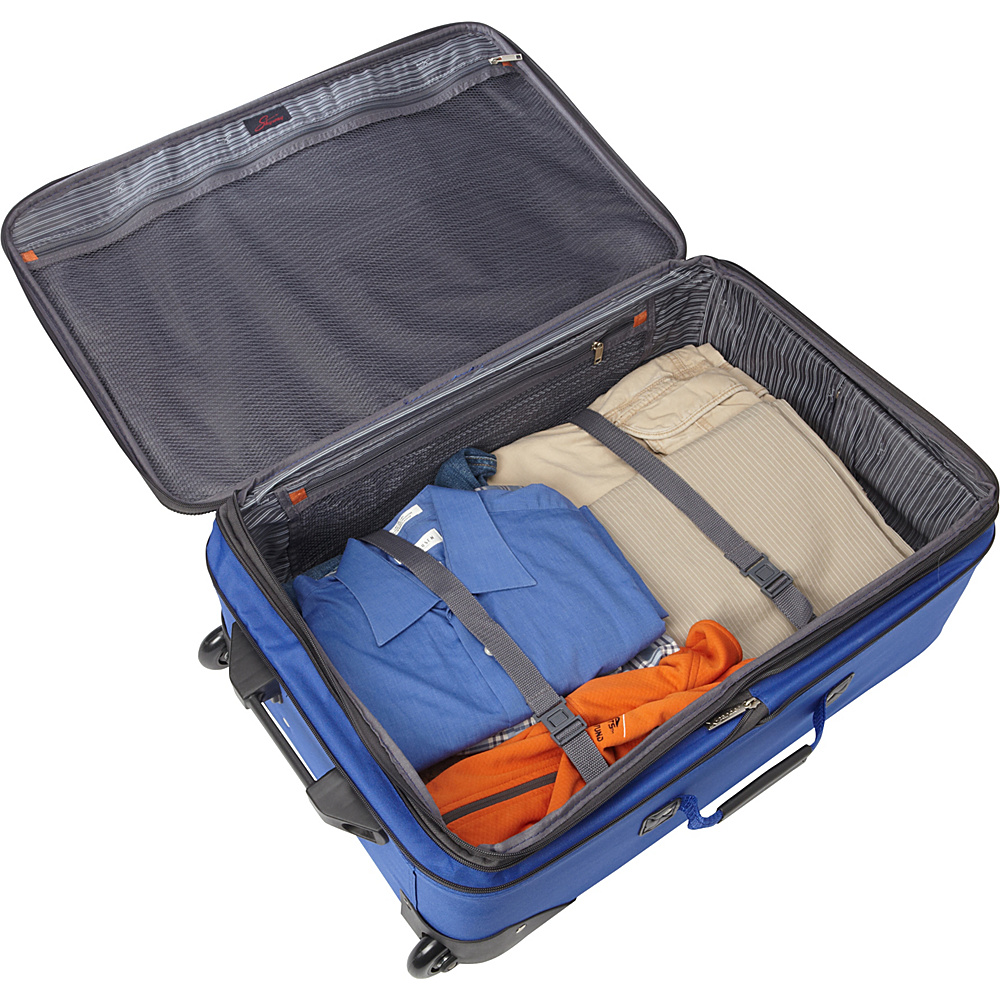 """Skyway Epic Wheel Expandable Upright Luggage - 24"""" Surf Blue - Skyway Softside Checked"""