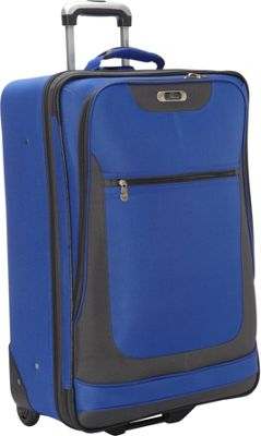 Skyway Epic Wheel Expandable Upright Luggage - 24 inch Surf Blue - Skyway Softside Checked