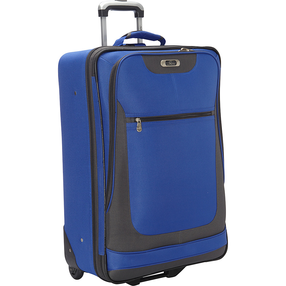 "Skyway Epic Wheel Expandable Upright Luggage - 24"" Surf Blue - Skyway Softside Checked"
