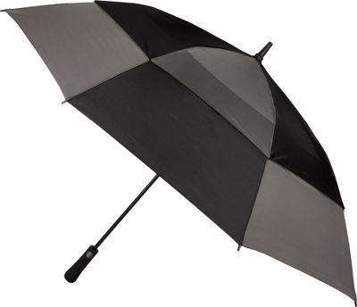 Totes Mulligan Umbrella Black/Charcoal - Totes Umbrellas and Rain Gear