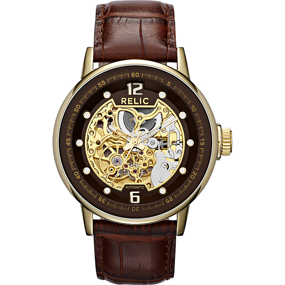 Relic Round Automatic Brown Relic Watches