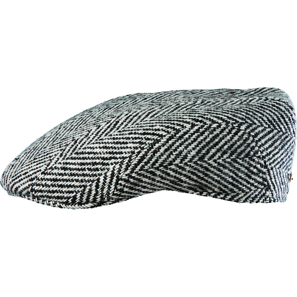 Stetson Houndstooth Wool Madison Black White XLarge Stetson Hats Gloves Scarves