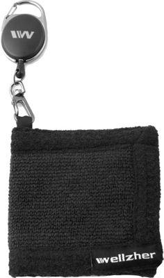 Wellzher Premium Microfiber Retractor Golf-ball Towel 4 inch X 4 inch Black - Wellzher Sports Accessories