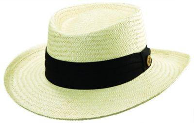 Tommy Bahama Headwear Palm Fiber Gambler S/M - BLACK - Tommy Bahama Headwear Hats/Gloves/Scarves