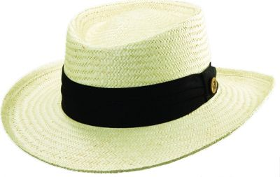 Tommy Bahama Headwear Palm Fiber Gambler L/XL - BLACK - Tommy Bahama Headwear Hats/Gloves/Scarves