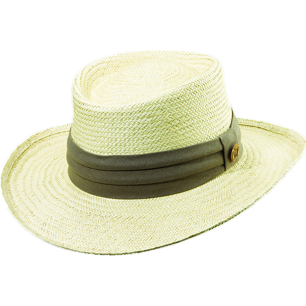 Tommy Bahama Headwear Palm Fiber Gambler S/M - Taupe - Tommy Bahama Headwear Hats/Gloves/Scarves