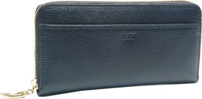 TUSK LTD Madison Gusseted Zip Clutch Navy - TUSK LTD Ladies Clutch Wallets