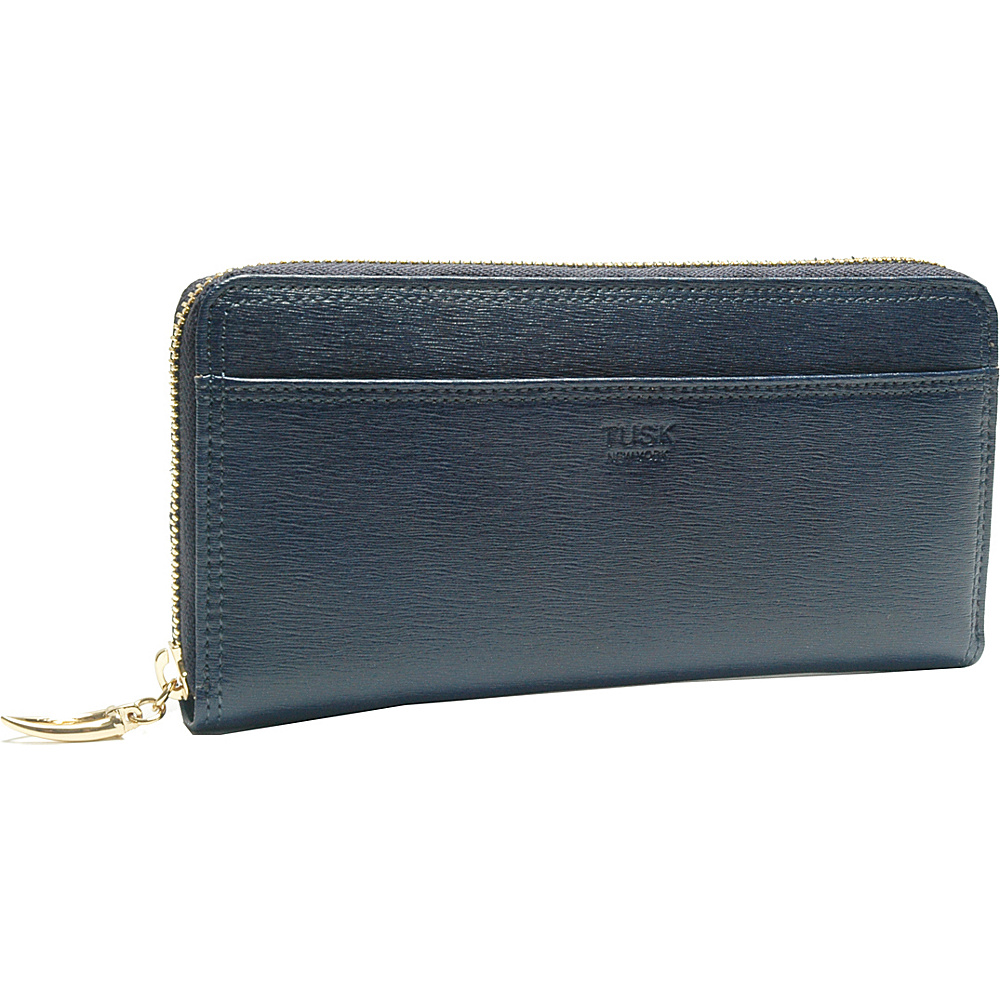 TUSK LTD Madison Gusseted Zip Clutch Navy TUSK LTD Women s Wallets