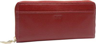 TUSK LTD Madison Gusseted Zip Clutch Red - TUSK LTD Women's Wallets