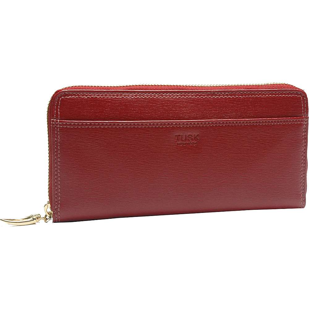 TUSK LTD Madison Gusseted Zip Clutch Red TUSK LTD Women s Wallets