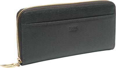 TUSK LTD Madison Gusseted Zip Clutch Black - TUSK LTD Women's Wallets