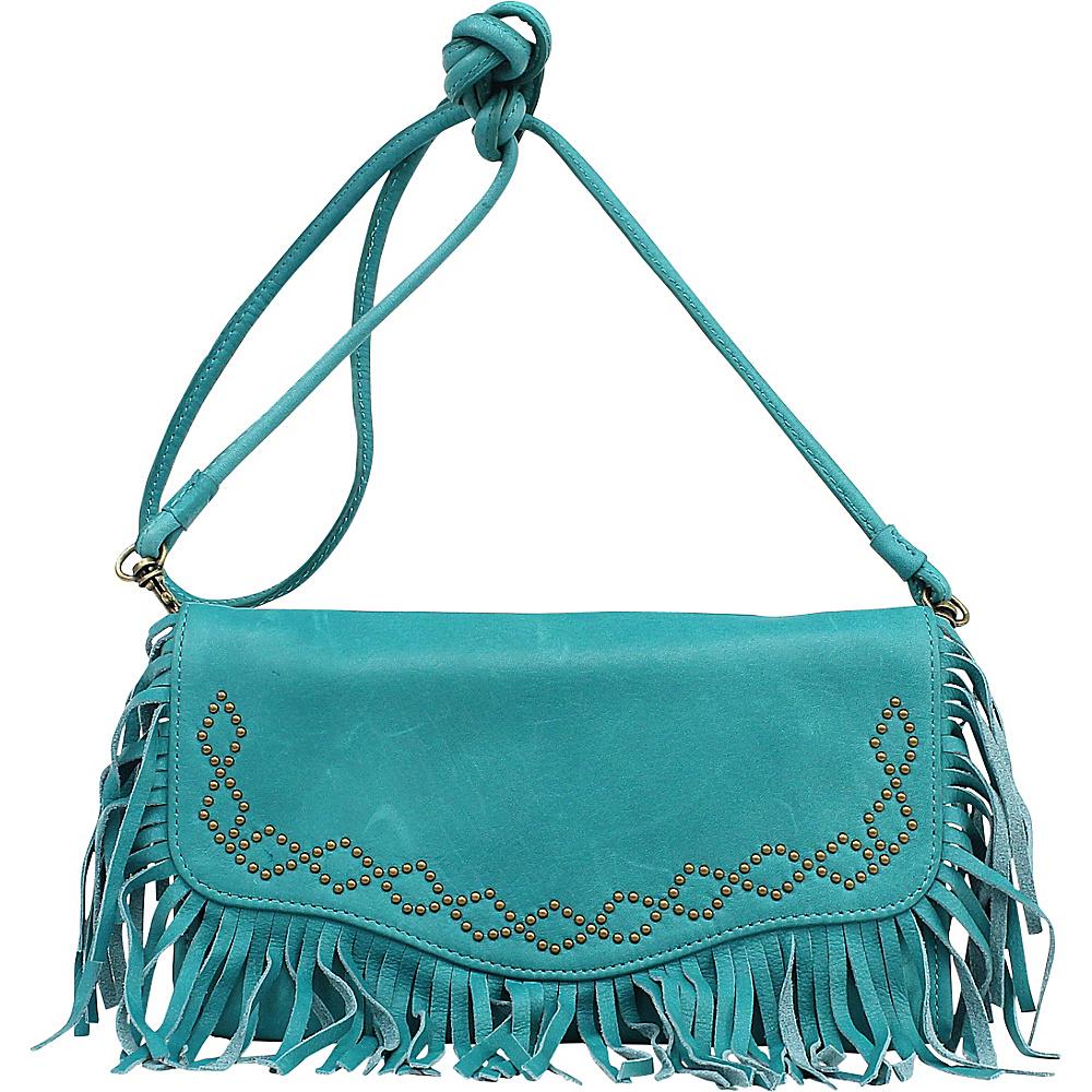 Lucky Brand Loredo E/W Clutch Turquoise - Lucky Brand Leather Handbags