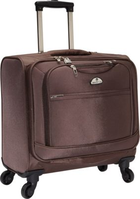 American Flyer South West 4-Wheel Professional Business Wheelies Brown - American Flyer Wheeled Business Cases