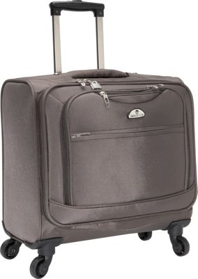American Flyer South West 4-Wheel Professional Business Wheelies Grey - American Flyer Wheeled Business Cases