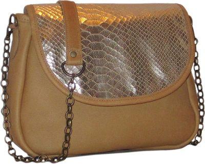 Brynn Capella Sophie Exotic Small Crossbody Bag Golden Tan Snakeskin - Brynn Capella Leather Handbags