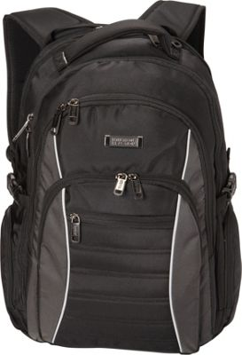 Kenneth Cole Reaction No Looking Back Backpack Black - Kenneth Cole Reaction Business & Laptop Backpacks
