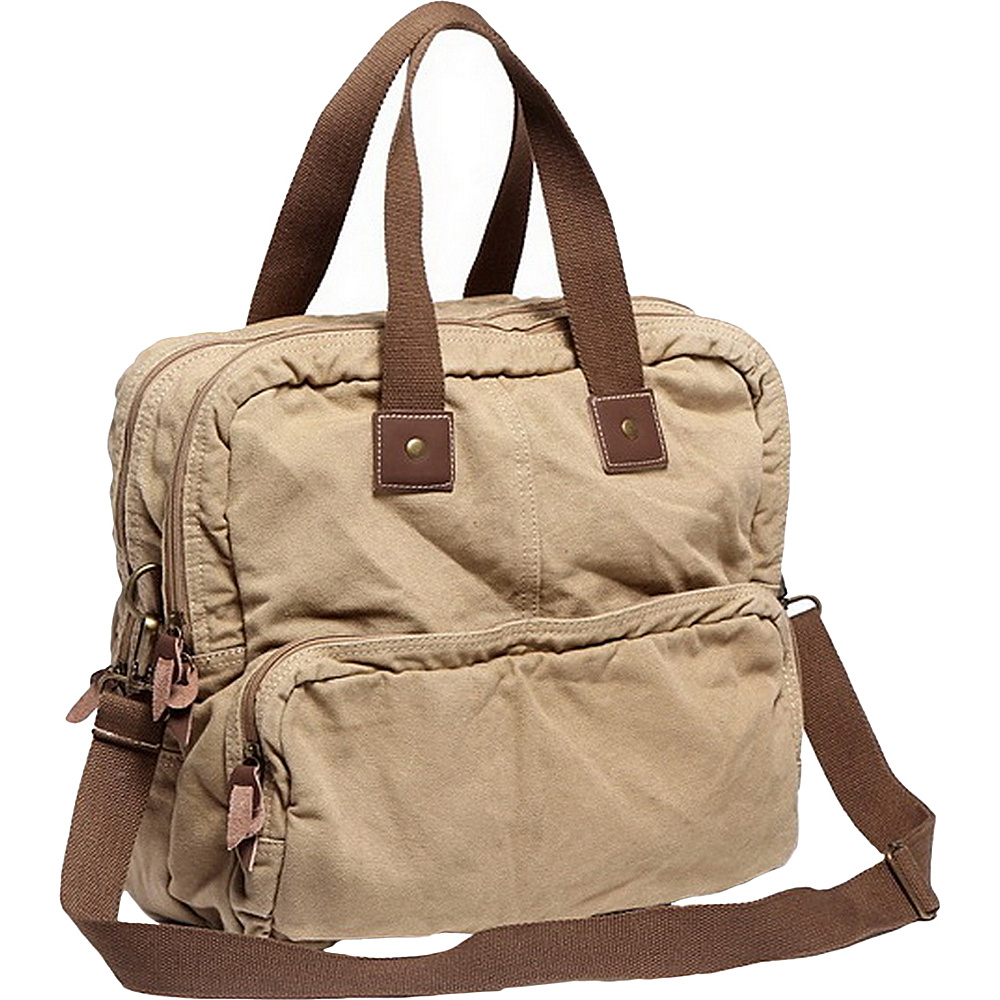 Vagabond Traveler Tall Casual 15 Shoulder Bag Khaki - Vagabond Traveler Messenger Bags - Work Bags & Briefcases, Messenger Bags
