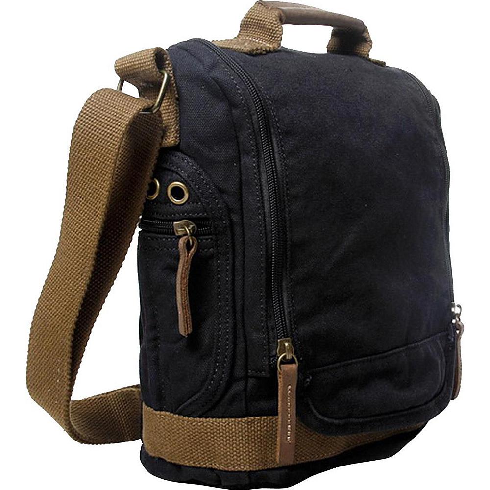 Vagabond Traveler Tall 10 Small Satchel Shoulder Bag Black - Vagabond Traveler Slings - Backpacks, Slings