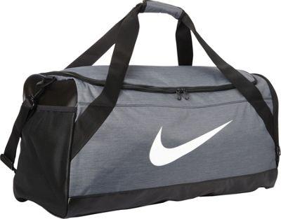 Nike Brasilia 6 Large Duffel Flint Grey/Black/White - Nike All Purpose Duffels