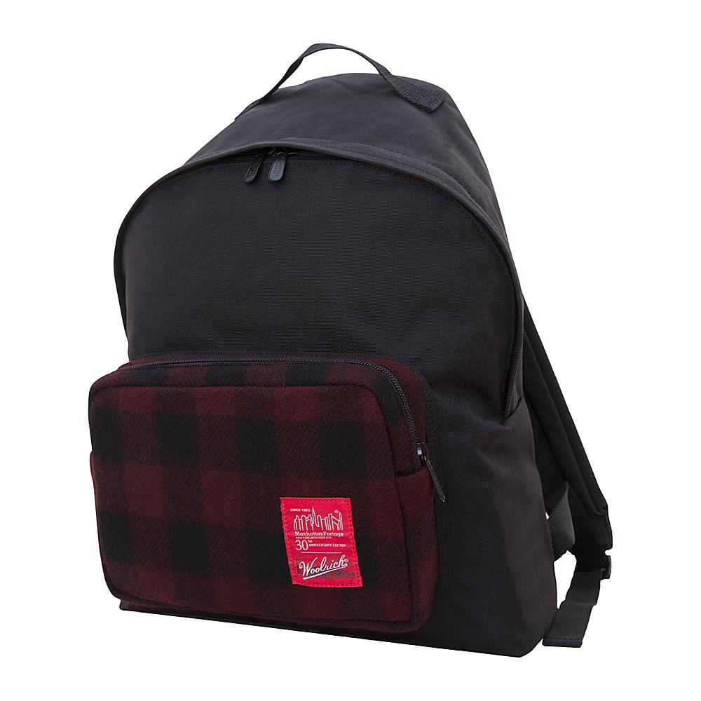 Manhattan Portage X Woolrich Big Apple Backpack (MD) Buffalo Check Red/Black - Manhattan Portage Everyday Backpacks - Backpacks, Everyday Backpacks