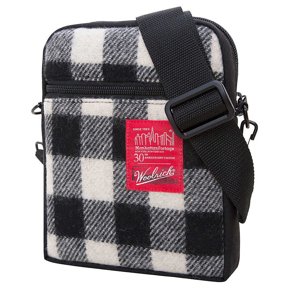 Manhattan Portage X Woolrich City Lights Buffalo Check White/Black - Manhattan Portage Other Mens Bags - Work Bags & Briefcases, Other Men's Bags