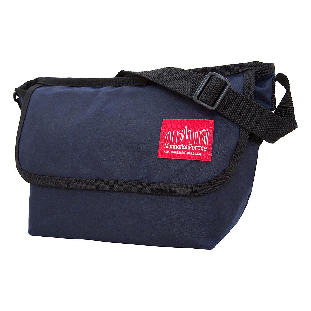 Manhattan Portage Waxed Mini NY Messenger Bag Navy - Manhattan Portage Messenger Bags - Work Bags & Briefcases, Messenger Bags