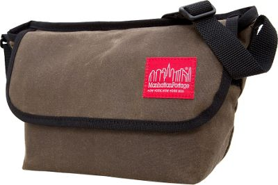 Manhattan Portage Waxed Mini NY Messenger Bag Dark Brown - Manhattan Portage Messenger Bags