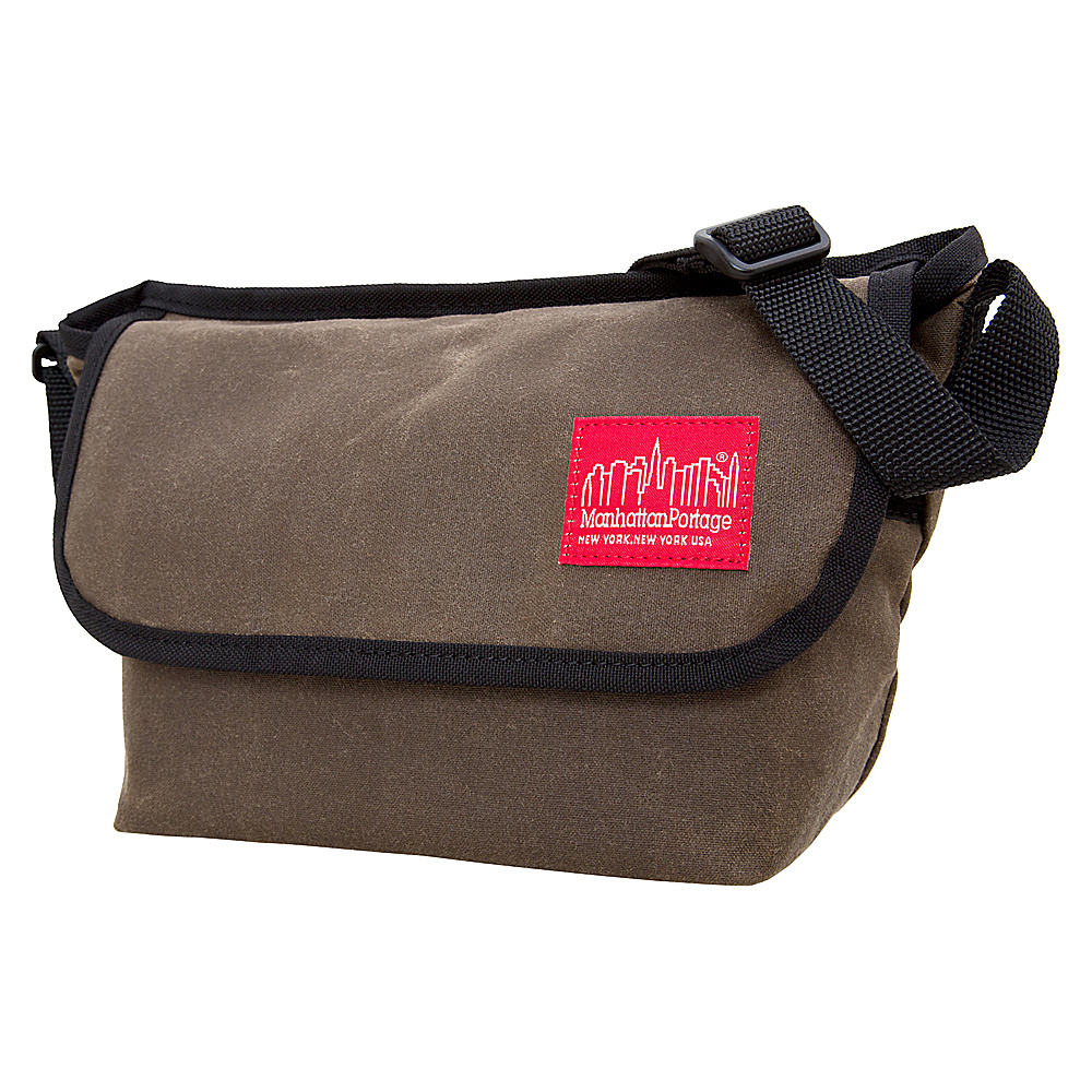 Manhattan Portage Waxed Mini NY Messenger Bag Dark Brown - Manhattan Portage Messenger Bags - Work Bags & Briefcases, Messenger Bags