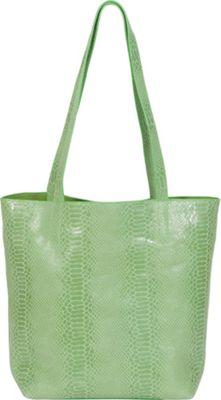 BUCO North South Iguana Tote Lime Green - BUCO Leather Handbags