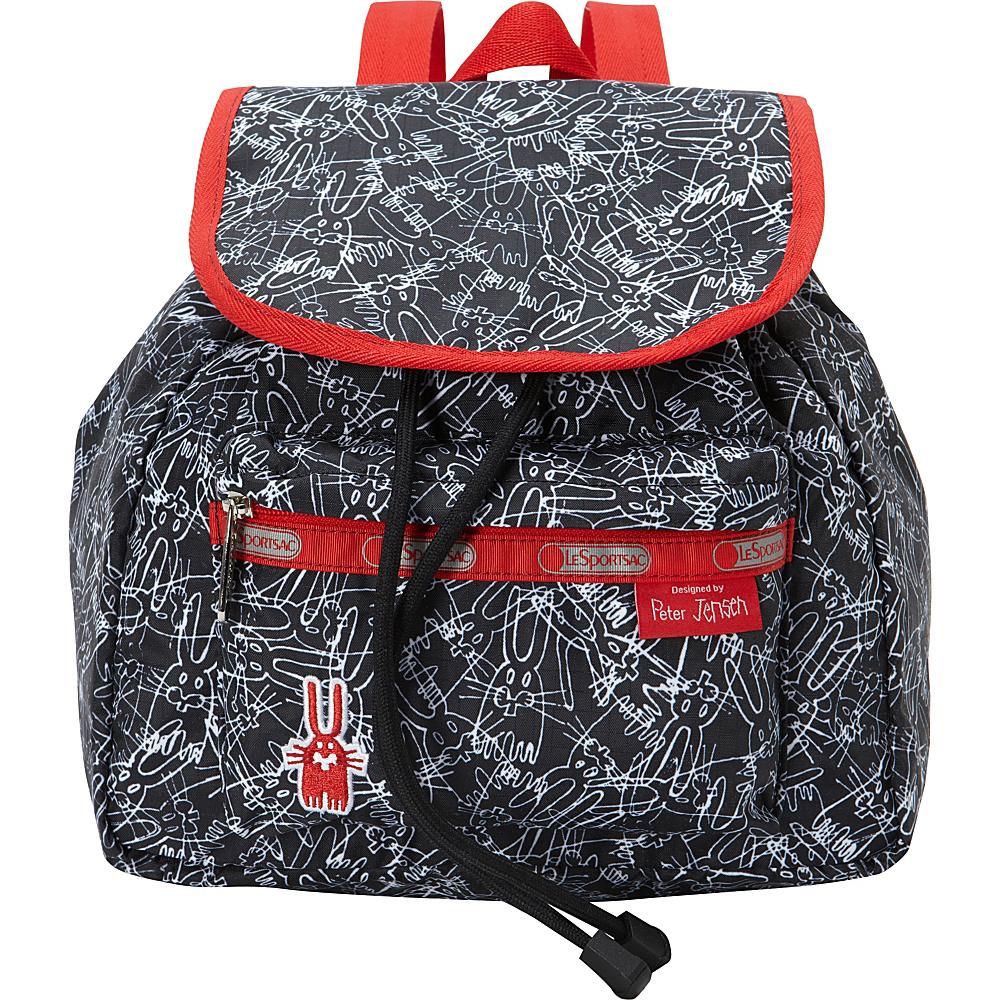 19b45cdafd6 LeSportsac Small Edie Backpack Scribble Rabbits - LeSportsac Fabric  Handbags - 10410115 by LeSportsac