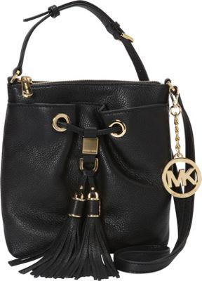 MICHAEL Michael Kors Camden Drawstring Crossbody Bag Black - MICHAEL Michael Kors Designer Handbags