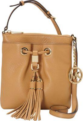 MICHAEL Michael Kors Camden Drawstring Crossbody Bag Peanut - MICHAEL Michael Kors Designer Handbags