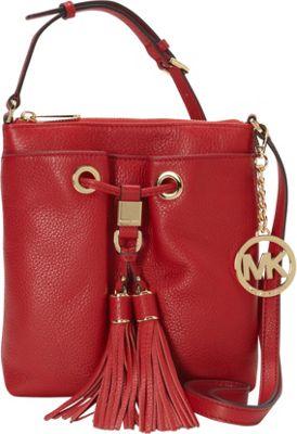 MICHAEL Michael Kors Camden Drawstring Crossbody Bag Chili - MICHAEL Michael Kors Designer Handbags