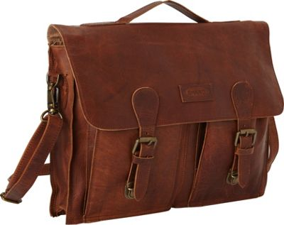 Leather tote computer bag