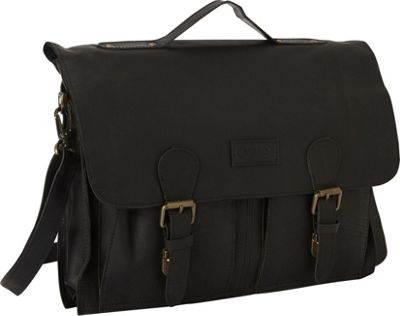 Sharo Leather Bags Soft Leather Laptop Messenger Bag and Brief Black - Sharo Leather Bags Messenger Bags