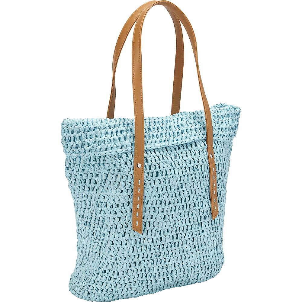 35.69 More Details · Magid Crochet Paper Straw TL Tote Baby Blue - Magid  Straw Handbags 4d03fd1639