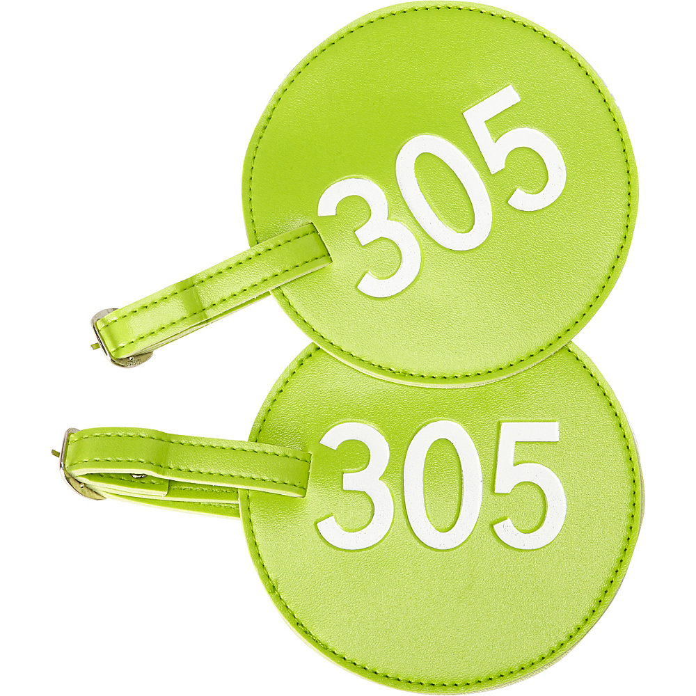 pb travel Number Luggage Tag 305 Set of 2 Green pb travel Luggage Accessories