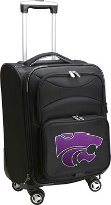 Denco Sports Luggage NCAA 20 inch Domestic Carry-On Spinner Kansas State University Wildcats - Denco Sports Luggage Softside Carry-On