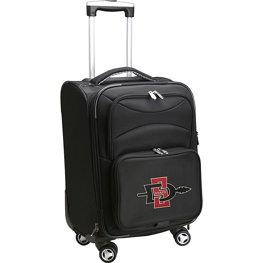 Denco Sports Luggage NCAA 20 Domestic Carry On Spinner San Diego State University Aztecs Denco Sports Luggage Softside Carry On
