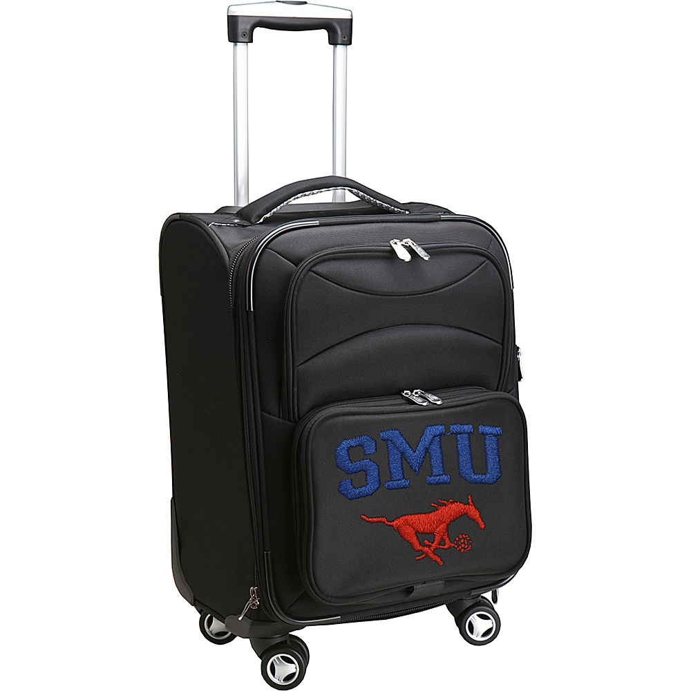 Denco Sports Luggage NCAA 20 Domestic Carry-On Spinner Southern Methodist University Mustangs - Denco Sports Luggage Softside Carry-On - Luggage, Softside Carry-On
