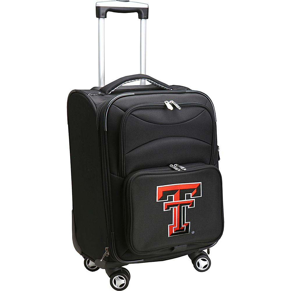 Denco Sports Luggage NCAA 20 Domestic Carry-On Spinner Texas Tech University Red Raiders - Denco Sports Luggage Softside Carry-On - Luggage, Softside Carry-On