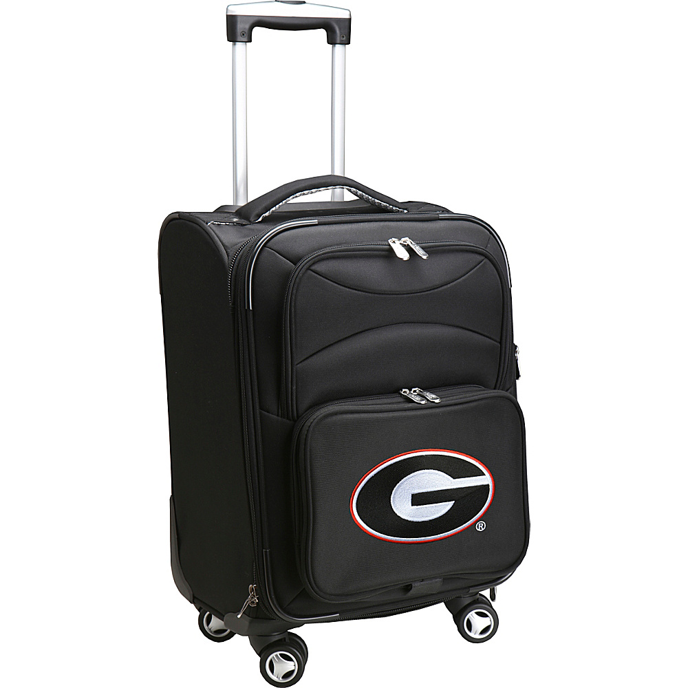 Denco Sports Luggage NCAA 20 Domestic Carry-On Spinner University of Georgia Bulldogs - Denco Sports Luggage Softside Carry-On - Luggage, Softside Carry-On