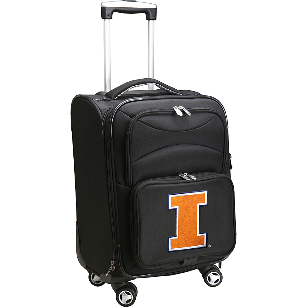 Denco Sports Luggage NCAA 20 Domestic Carry-On Spinner University of Illinois Fighting Illini - Denco Sports Luggage Softside Carry-On - Luggage, Softside Carry-On